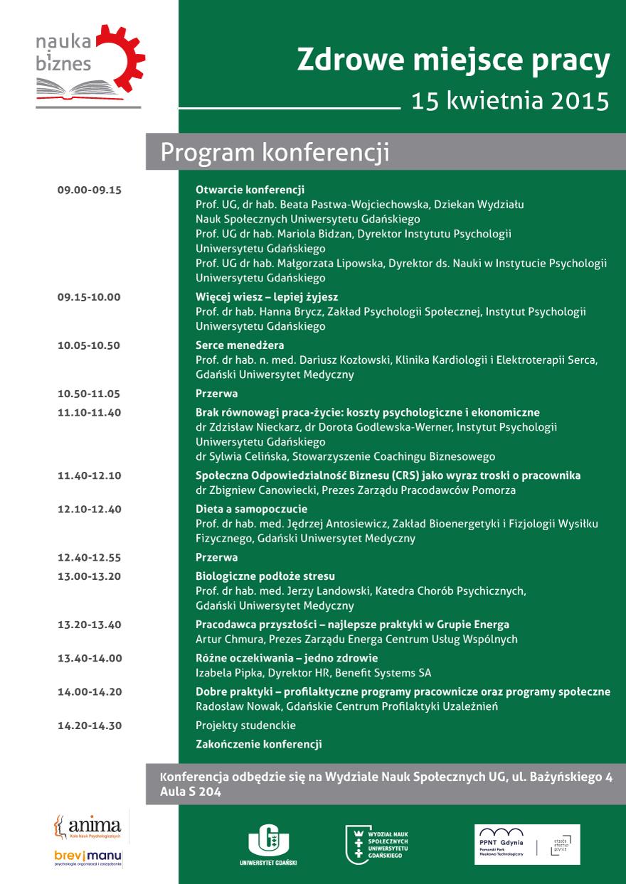 """IV Konferencja zcyklu """"Nauka iBiznes"""" pt. """"Zdrowe miejsce pracy"""""""
