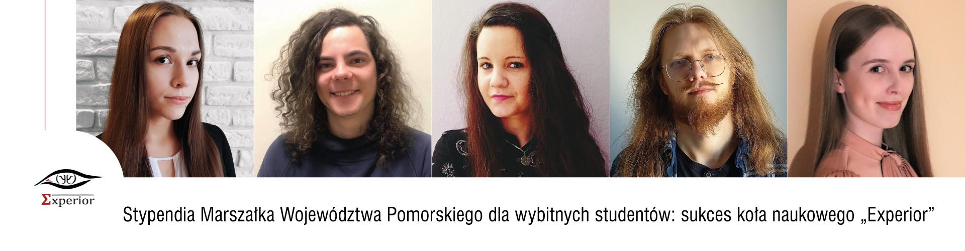 """Stypendia Marszałka Województwa Pomorskiego dla wybitnych studentów: sukces koła naukowego """"Experior"""""""