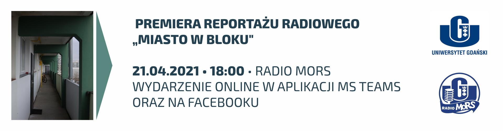 """Premiera studenckiego reportazu radiowego""""Miasto w bloku"""""""