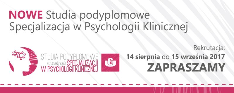 Banner Studiów Podyplom. Ps. Klin.