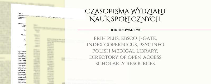 Indeksacja czasopism - baner
