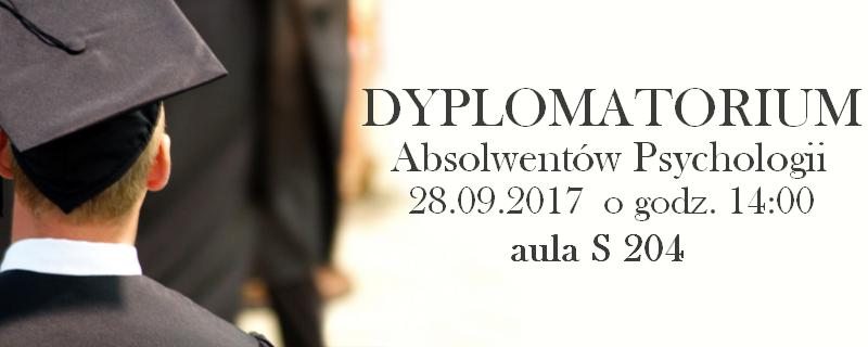 Dyplomatorium Absolwentów Psychologii