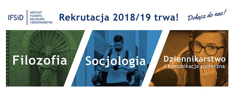 Rekrutacja w Instytucie Filozofii, Socjologii i Dziennikarstwa