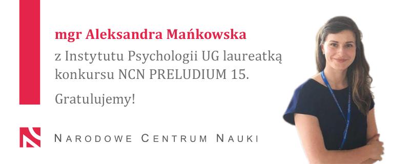 Laureatka konkursu NCN PRELUDIUM