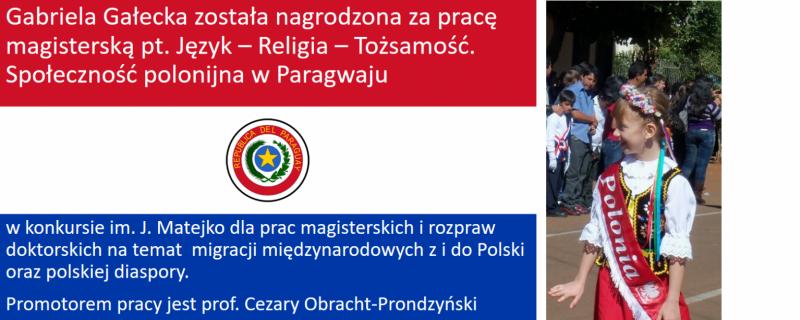 nagroda w pierwszej edycji konkursu im. Joanny Matejko