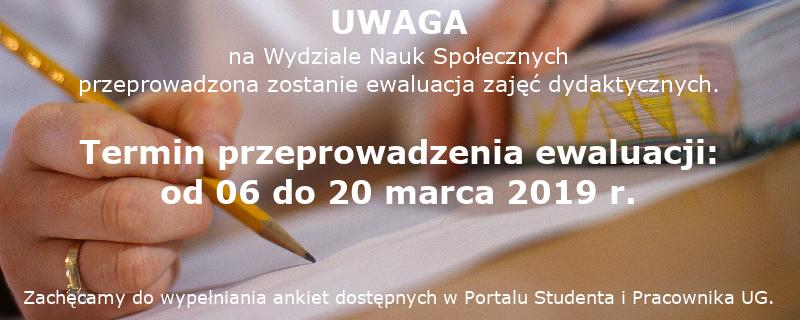 Studenckie ankiety ewaluacyjne za semestr zimowy 2018/19