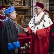Uroczyste nadanie tytułu doktora honoris causa dr. Thomasowi Bachowi przez Rektora UG prof. Jerzego Gwizdałę