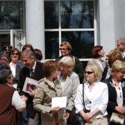 Licznie zgromadzeni pracownicy Instytutu Pedagogiki