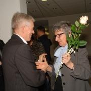 Życzenia prof. dr hab. Joannie Rutkowiak składa dr Józef Żerko